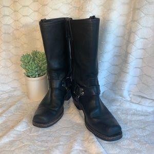 Fyre Harness black moto boots